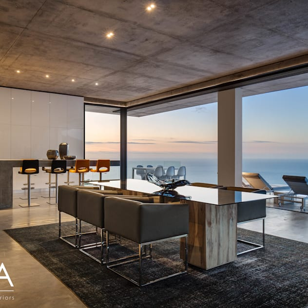 Pool Penthouse - Dining & Kitchen Jenny Mills Architects Modern Dining Room