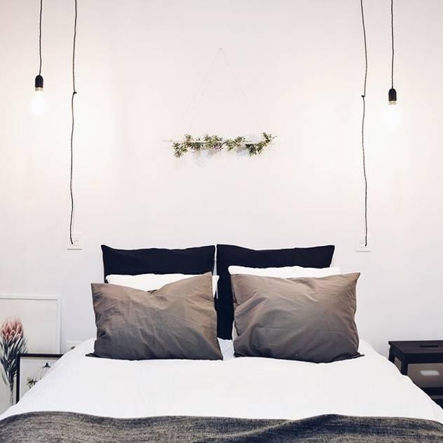 Small Apartment Renovation The White Interior Design Studio Industrial style bedroom