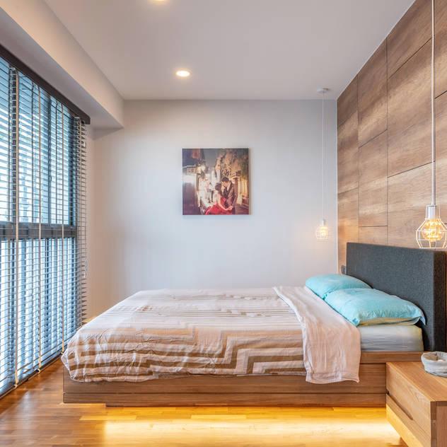 Scandinavian Scandinavian style bedroom by Meter Square Pte Ltd Scandinavian Wood Wood effect