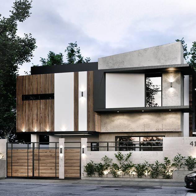 416 Residence Renovation Kenchiku 2600 Architectural Design Services Single family home Concrete White