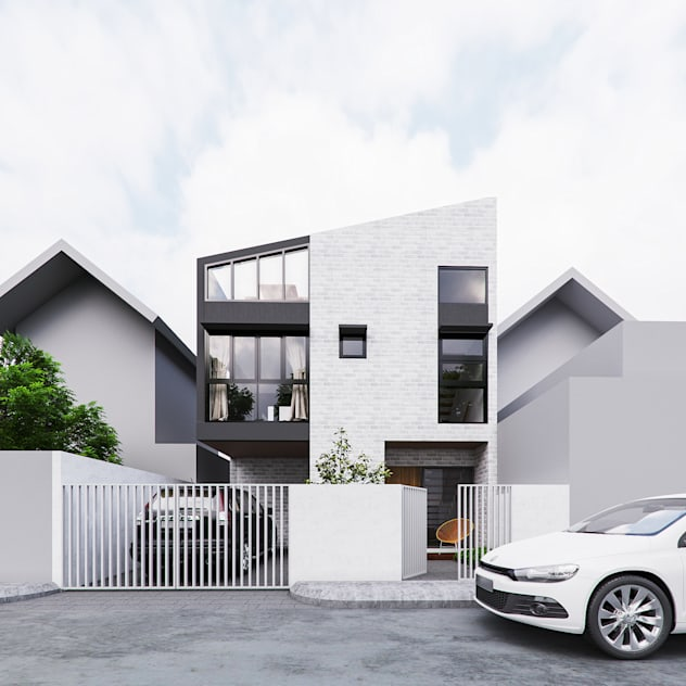 Exterior perspective intent during design phase JAAL Builders Single family home