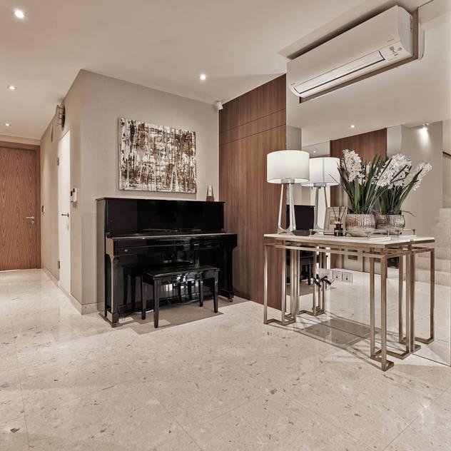 Mr Shopper Studio | Landed Property | Cayman Residence | Foyer Modern corridor, hallway & stairs by Mr Shopper Studio Pte Ltd Modern Wood Wood effect