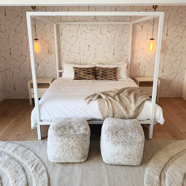 Master 2 Bells + Whistles, INC Eclectic style bedroom Beige