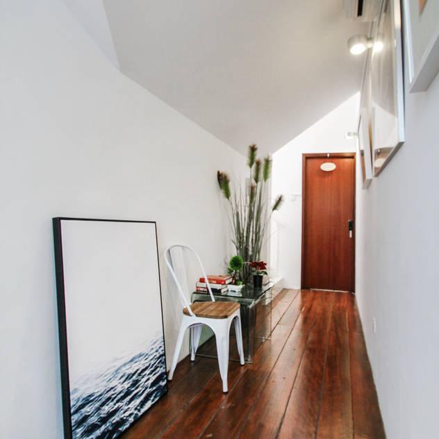 Helsinki Loft Country style corridor, hallway& stairs by Mr Shopper Studio Pte Ltd Country