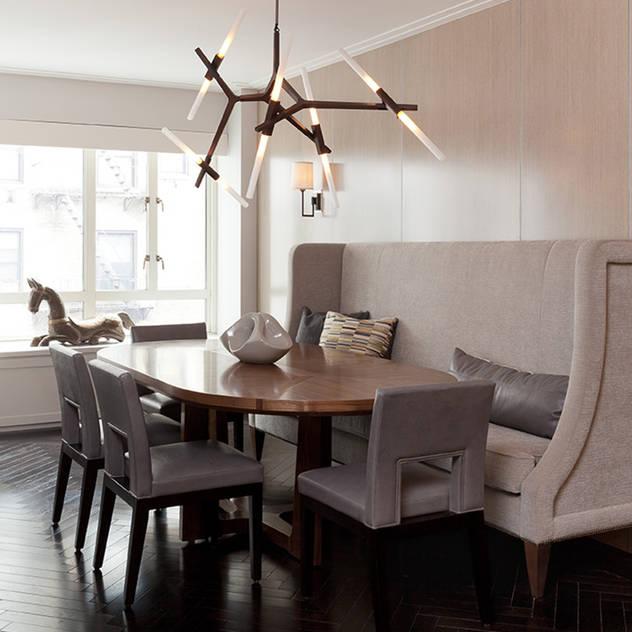 Bespoke bachelor pad park avenue, NYC Darci Hether New York Modern Dining Room