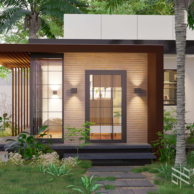 Front View Pabellar + Bayang ARKHITEKTON Architectural Design Studio Industrial style houses