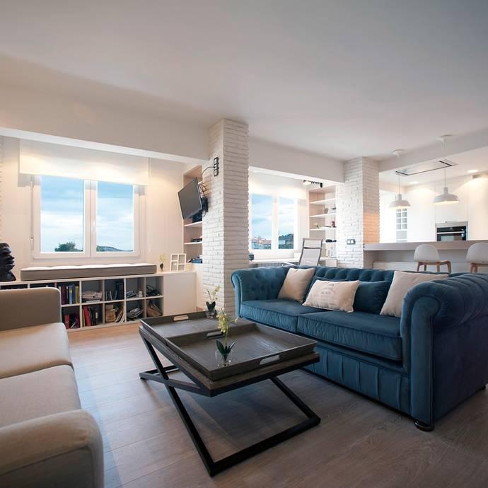 Diseño interior de vivienda: Salones de estilo industrial de Sube Susaeta Interiorismo
