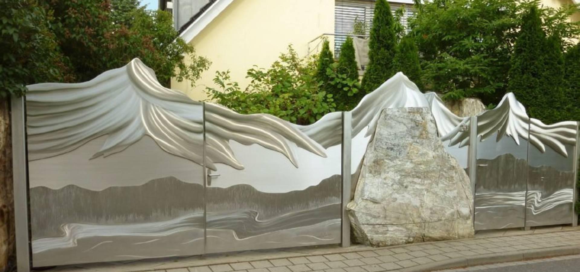 moderne edelstahltore von edelstahl atelier crouse - stainless ... - Gartentor Edelstahl