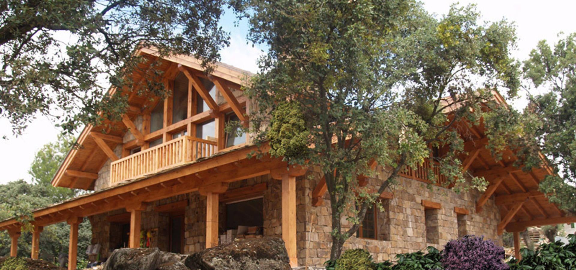 La casa del tejado hasta el suelo becerril de la sierra madrid par manuel monroy arquitecto - Maison s par domenack arquitectos ...