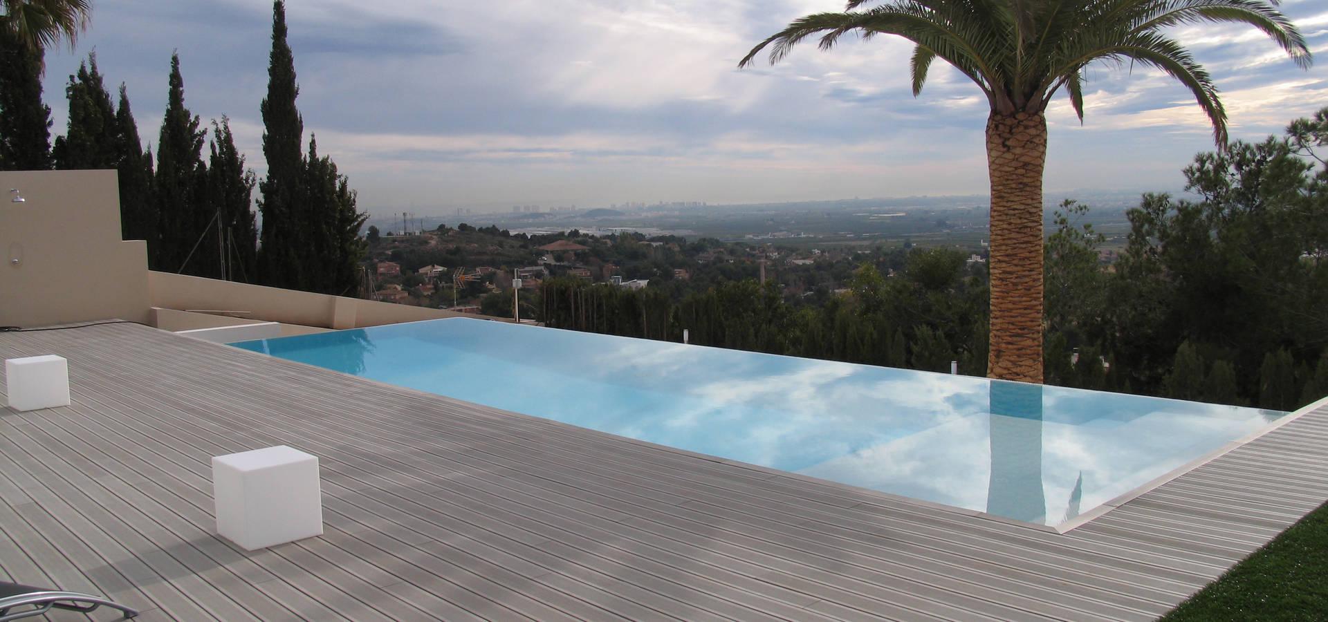 Piscina privada desbordante con playa interior by itp for W piscinas