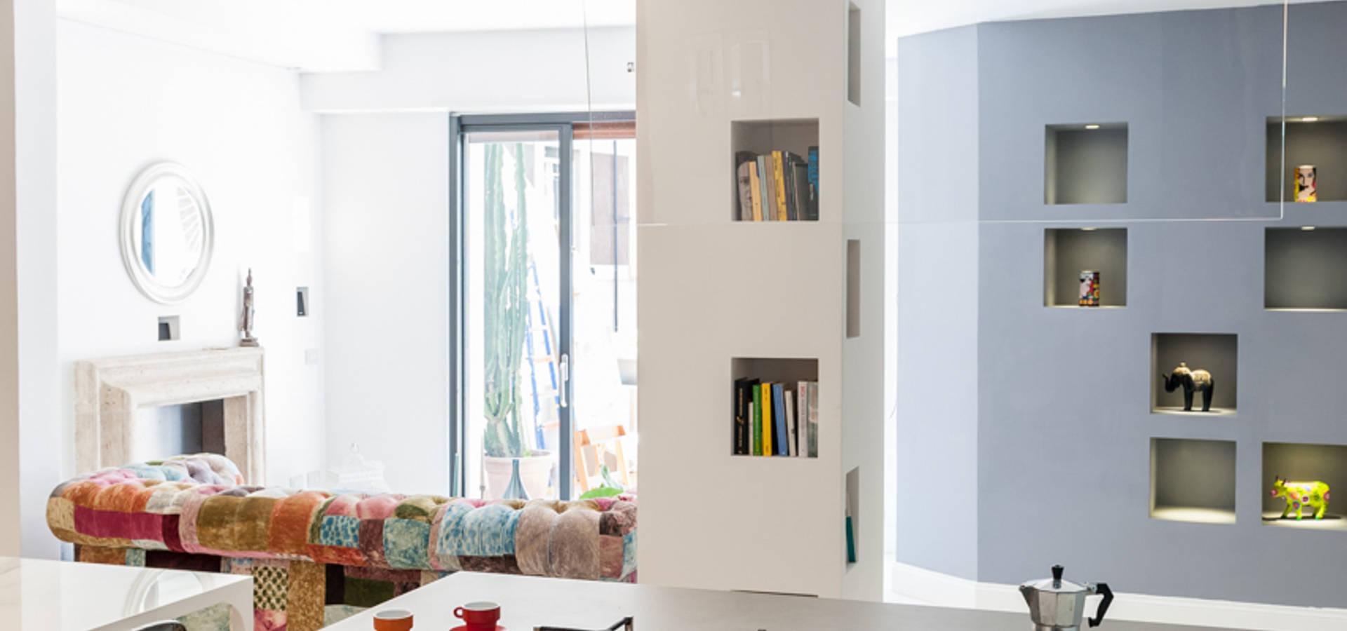 Appartamento eur de zero6studio studio associato di for Metraggio di appartamento studio