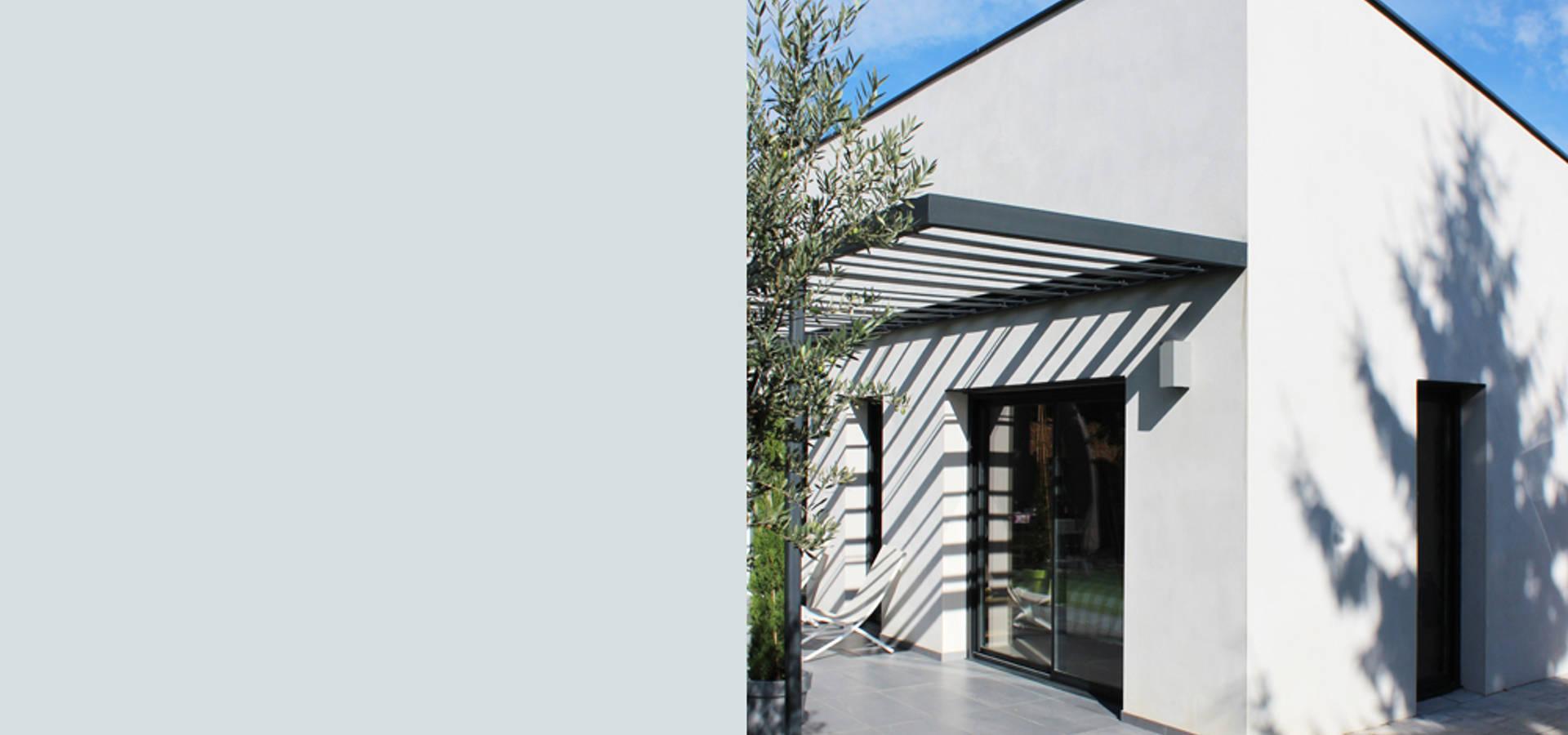 villa contemporaine por julien blanchard architecte dplg homify. Black Bedroom Furniture Sets. Home Design Ideas