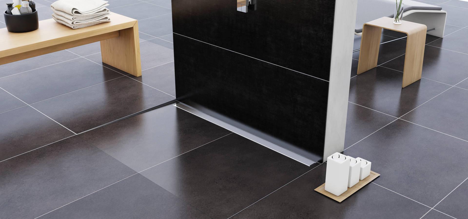 Glass profile i profili in acciaio inox per box doccia by - Profili piastrelle bagno ...