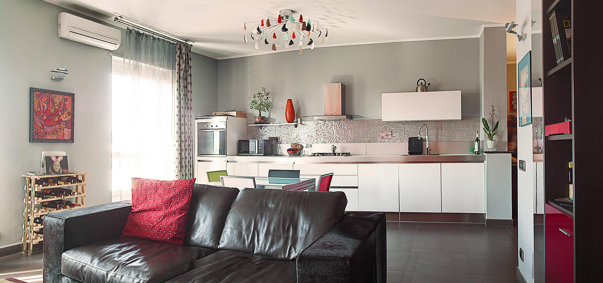 Un moderno soggiorno open space by Sara Architetto Porro | homify