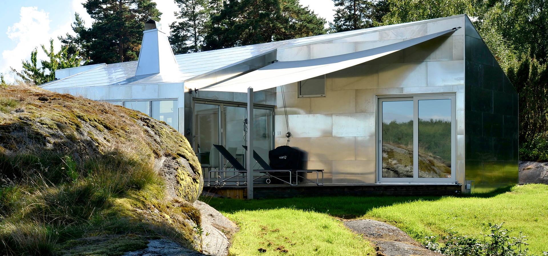Rock house di jarmund vigsn s as arkitekter mnal homify for Case in stile ranch in stile log cabin