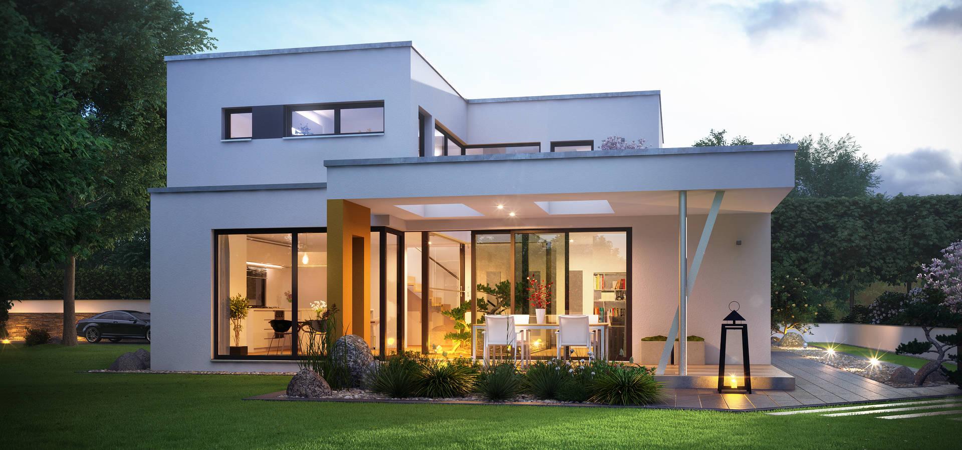 zukunft ist zuhause plus energie haus mit faszinierenden raffinessen de b denbender hausbau. Black Bedroom Furniture Sets. Home Design Ideas