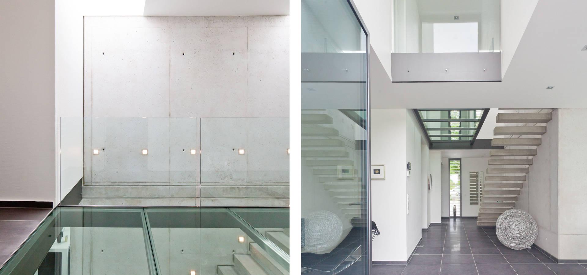 Moderne Wohnzimmerwande Galerie : Modernes haus mit luftraum und glassteg von beck blüm