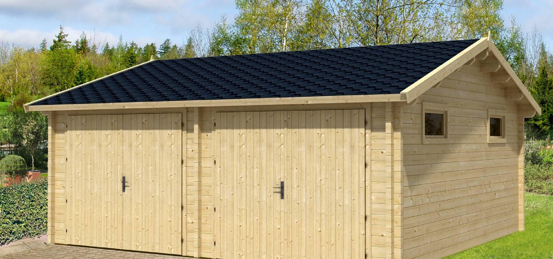 Garajes de madera de bricojardin on line slu homify - Garajes prefabricados de madera ...