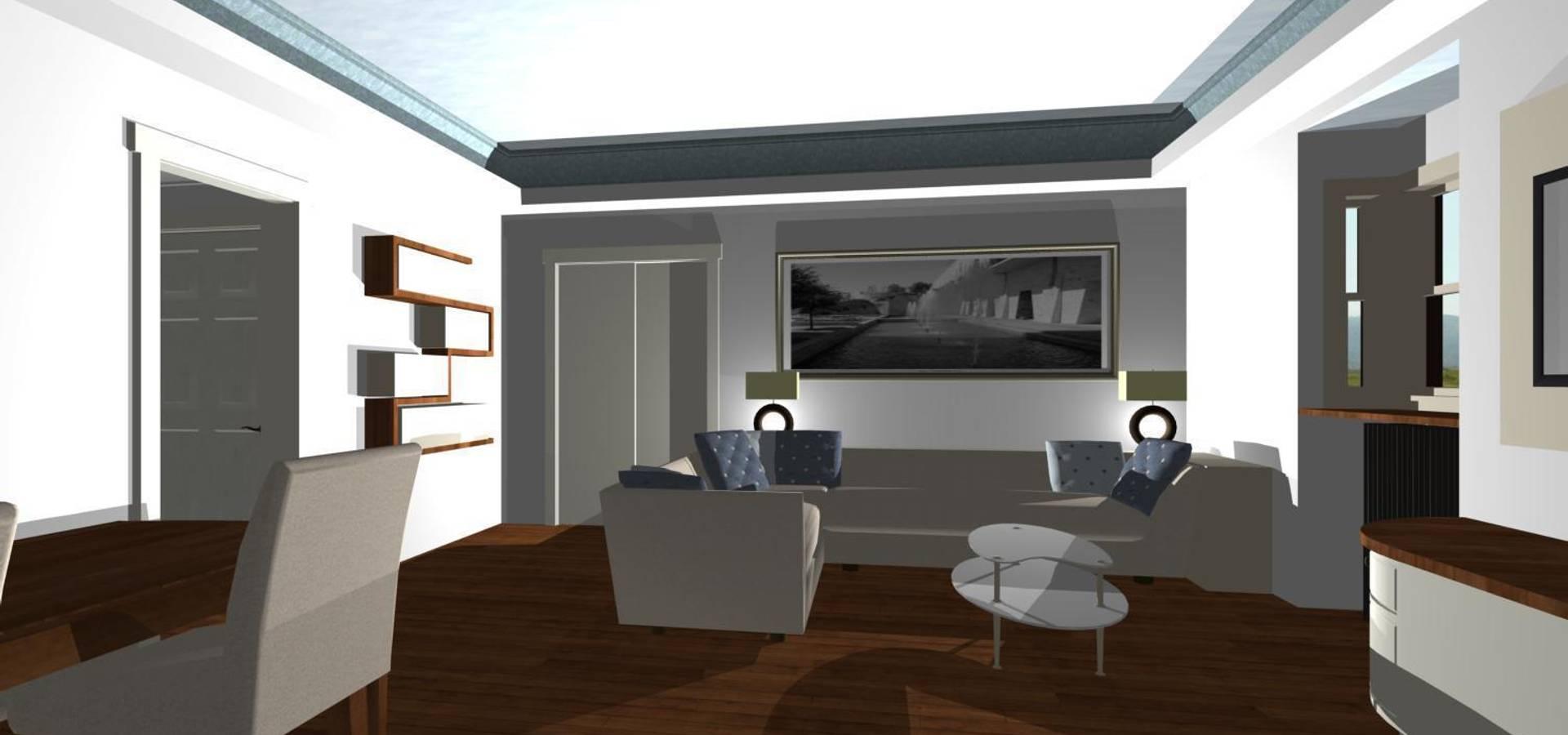 giochi di luci nel soggiorno von studio design d\'interni Frigerio ...
