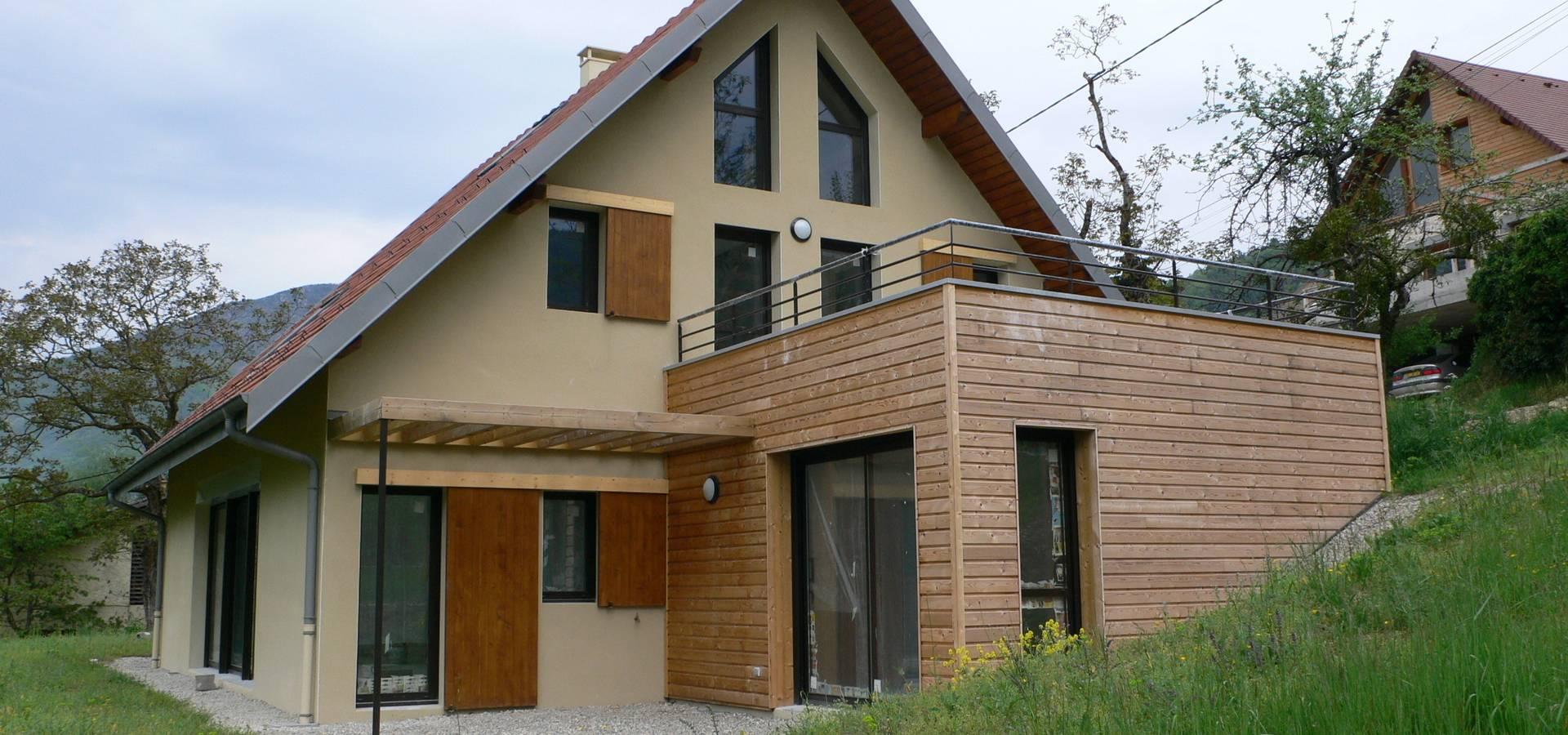 maison c quaix en chartreuse de testud thevenin architectes homify. Black Bedroom Furniture Sets. Home Design Ideas