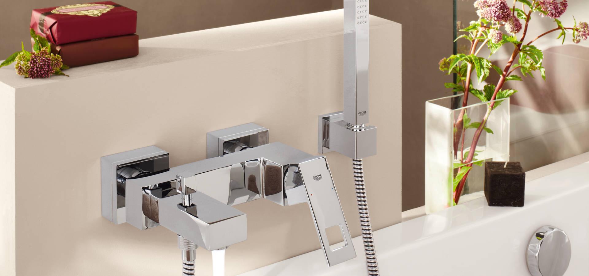 Eurocosmo badkamer voorzien van GROHE Eurodisc Joy serie by Grohe ...