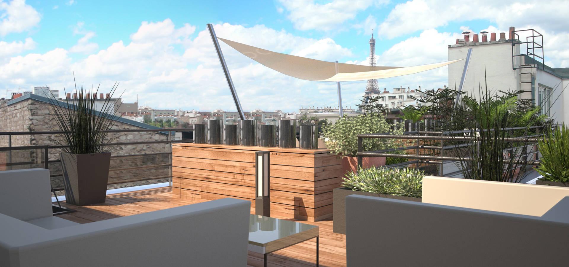 AMÉNAGEMENT D\'UN TOIT-TERRASSE À PARIS par RM Architecte | homify