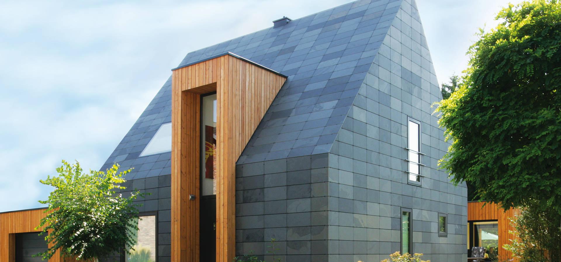 fassade und dach aus schiefer symmetrische deckung by rathscheck schiefer und dach systeme zn. Black Bedroom Furniture Sets. Home Design Ideas