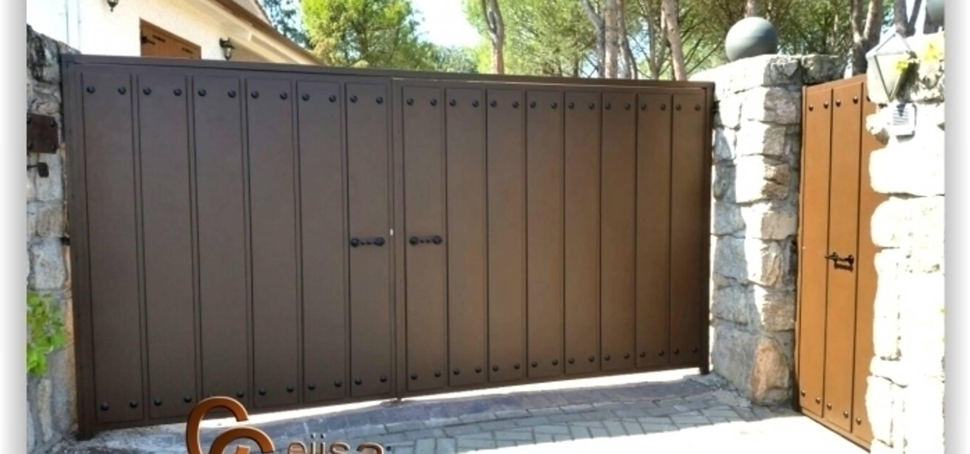 Puertas y vallas de cerrajeria cejisa homify - Proyecto puerta de garaje ...