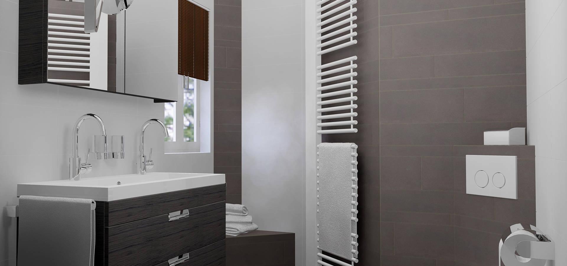 Stijlvolle idee n met tegels voor de gehele woning door for App badkamer ontwerpen