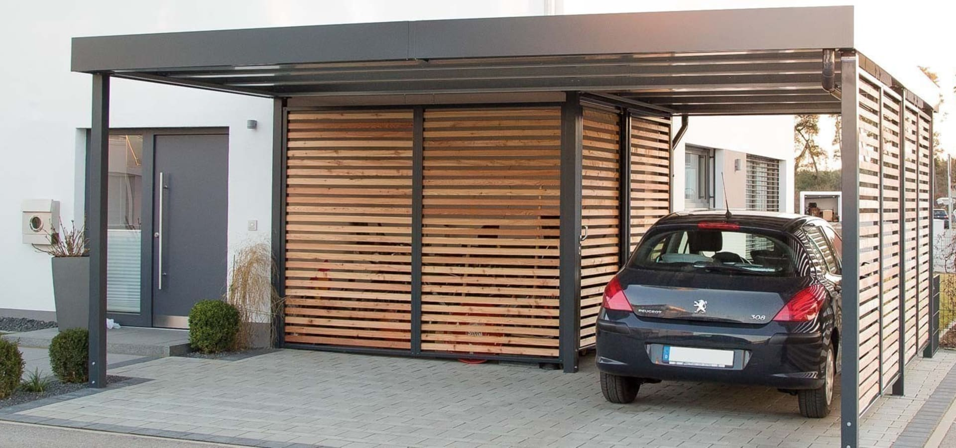 carports aus stahl von siebau de siebau raumsysteme gmbh co kg homify. Black Bedroom Furniture Sets. Home Design Ideas