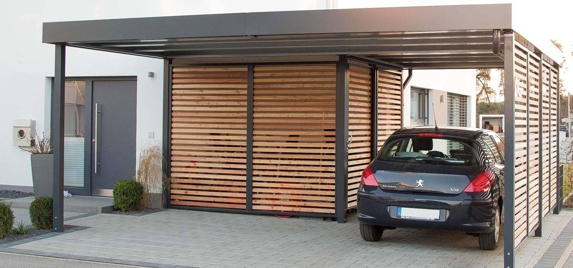 Eingangsüberdachung carports aus stahl siebau by siebau raumsysteme gmbh co kg