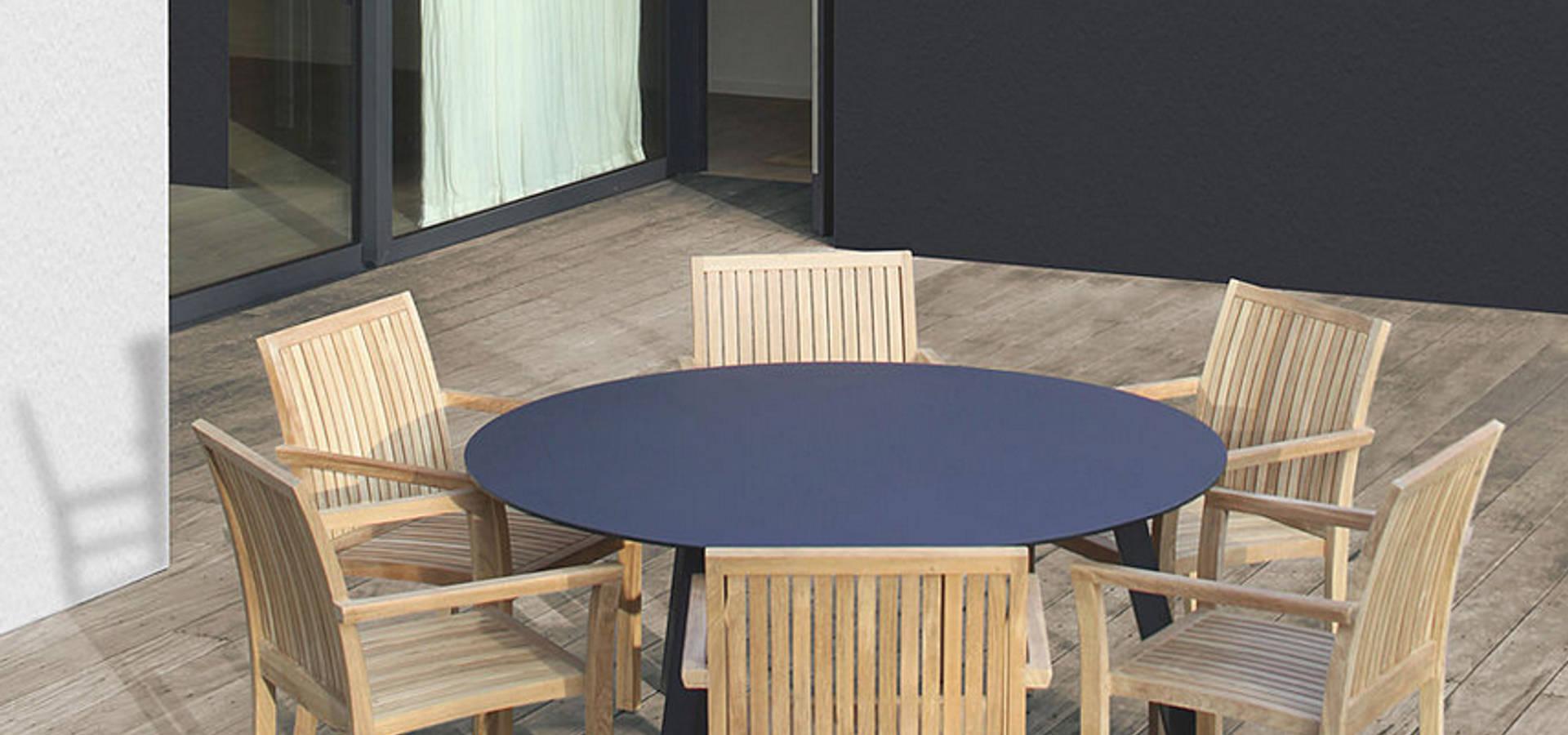 Mobiliario de jardines y exteriores by muebles caparros homify - Mobiliario de exteriores ...