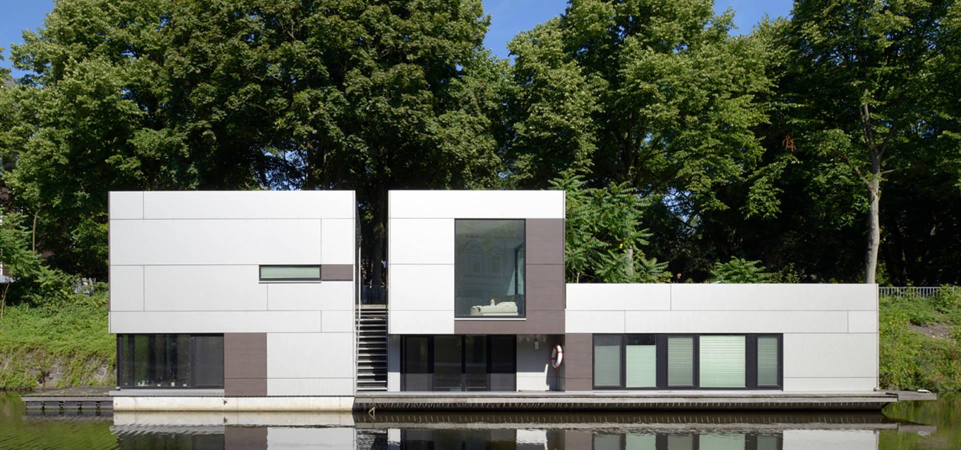 hausboot am eilbekkanal hamburg von dfz architekten homify. Black Bedroom Furniture Sets. Home Design Ideas