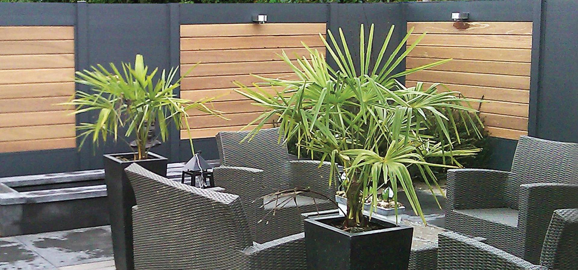 palissade ideal bois composite aluminium por deck lin a homify. Black Bedroom Furniture Sets. Home Design Ideas
