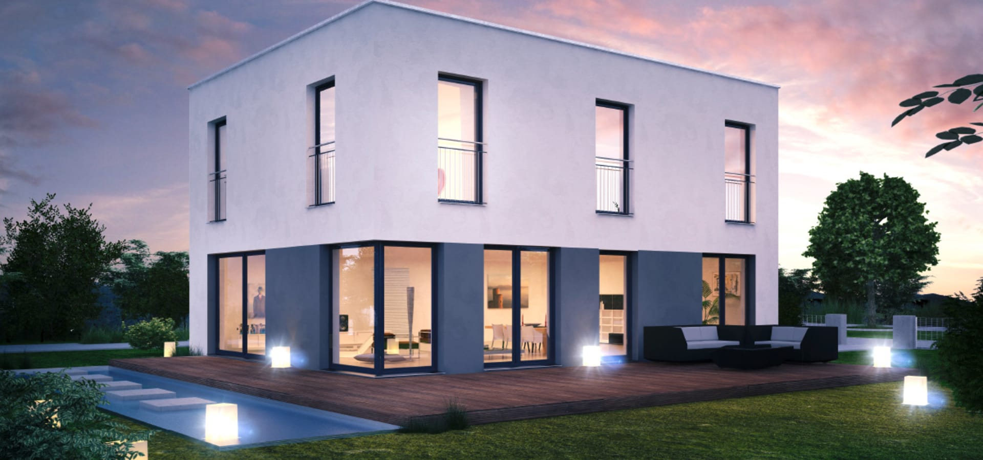 icon cube modernes wohnen im bauhaus stil de dennert. Black Bedroom Furniture Sets. Home Design Ideas