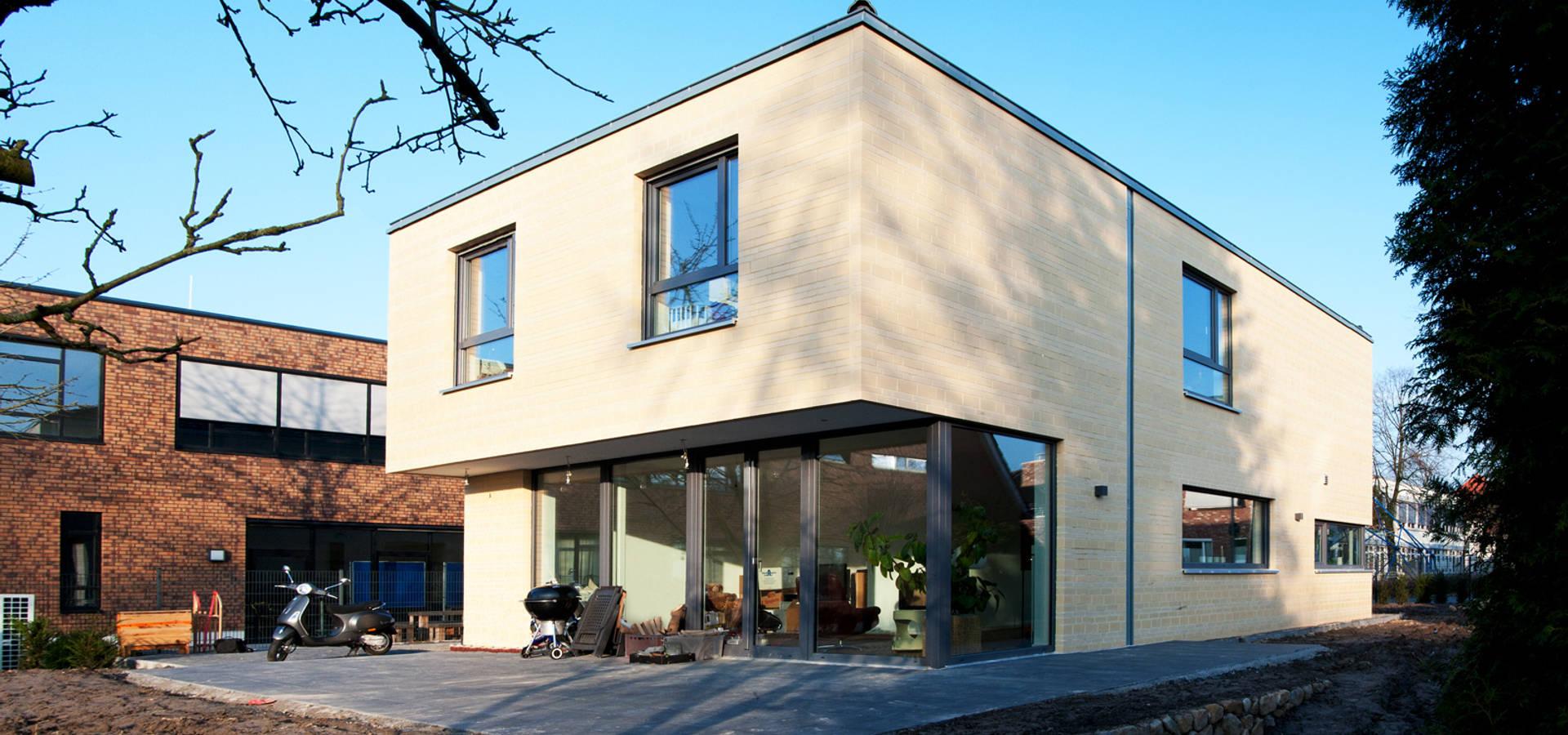 modernes einfamilienhaus in m nster von w p architekten. Black Bedroom Furniture Sets. Home Design Ideas