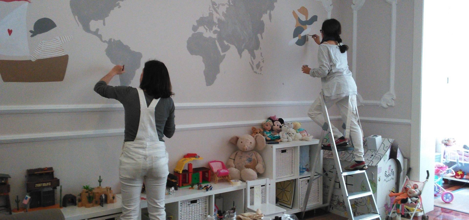 Murales Dormitorios La Pegatina De Pared Vinilo Adhesivo Mural  ~ Murales Decorativos Para Habitaciones De Adultos