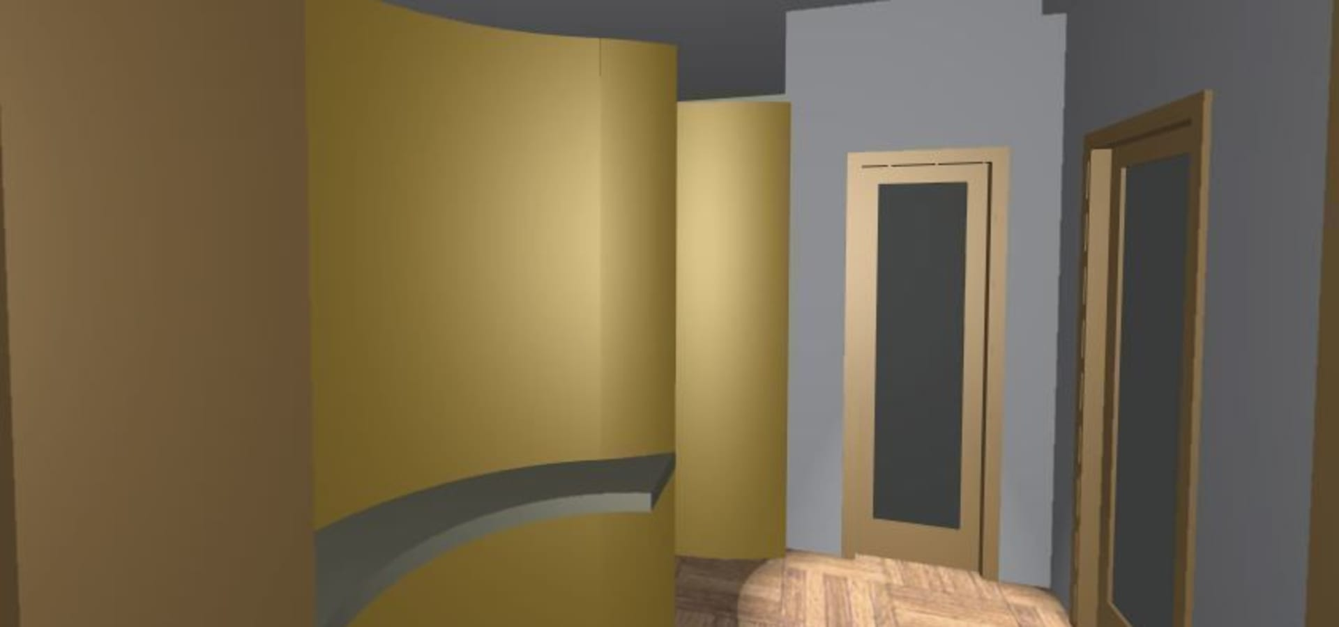 Studio Professionale: Hall curva color oro by Architettura Design ...
