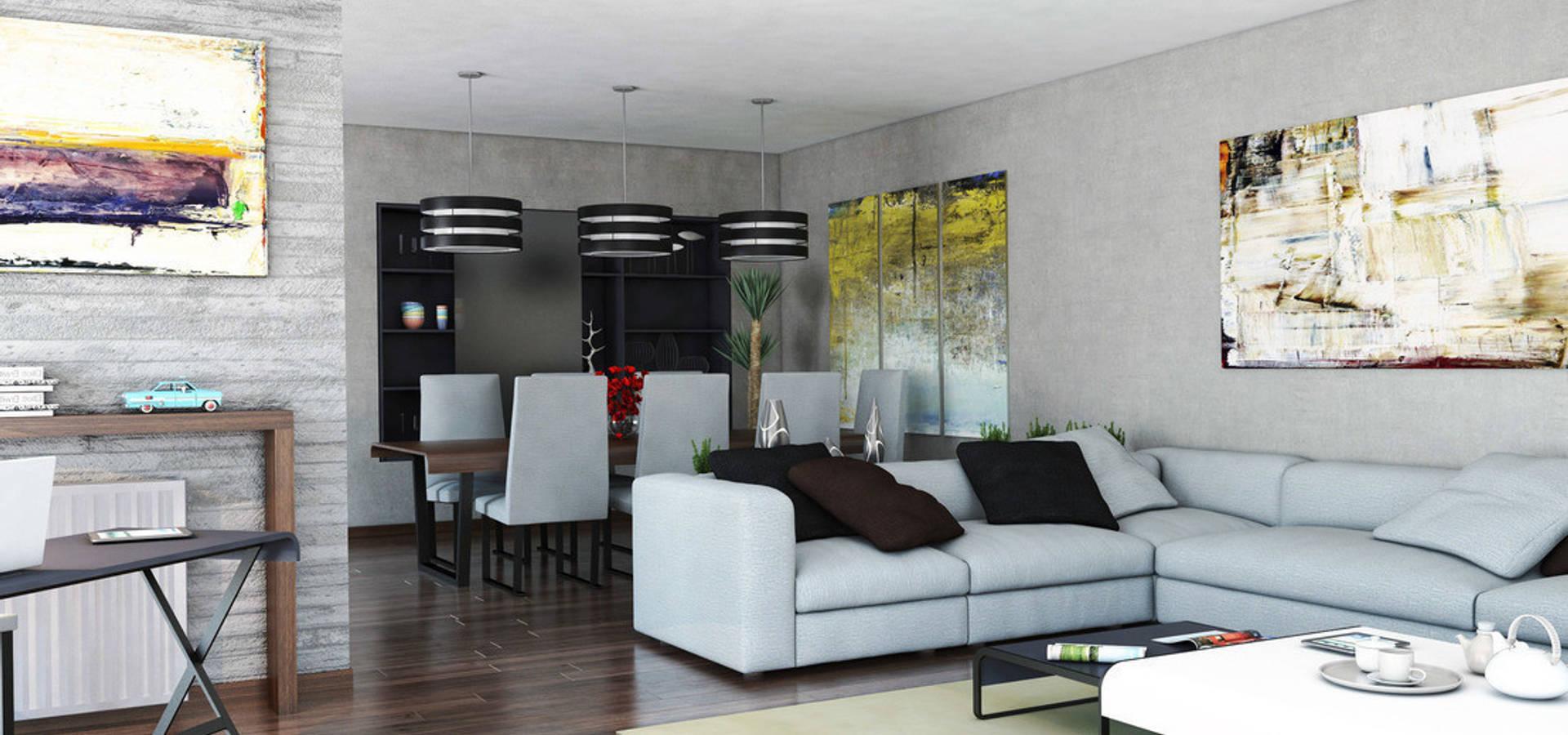 Ideas sencillas para crear dos ambientes en un salón comedor von ...