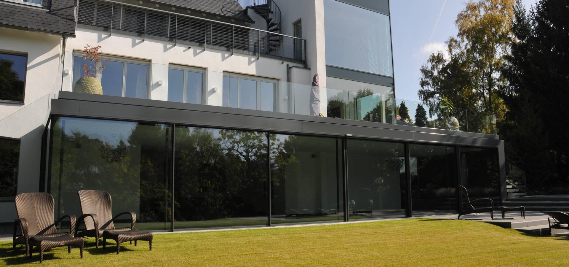 metallbau beilmann gmbh villa im bauhausstil f r okal homify. Black Bedroom Furniture Sets. Home Design Ideas