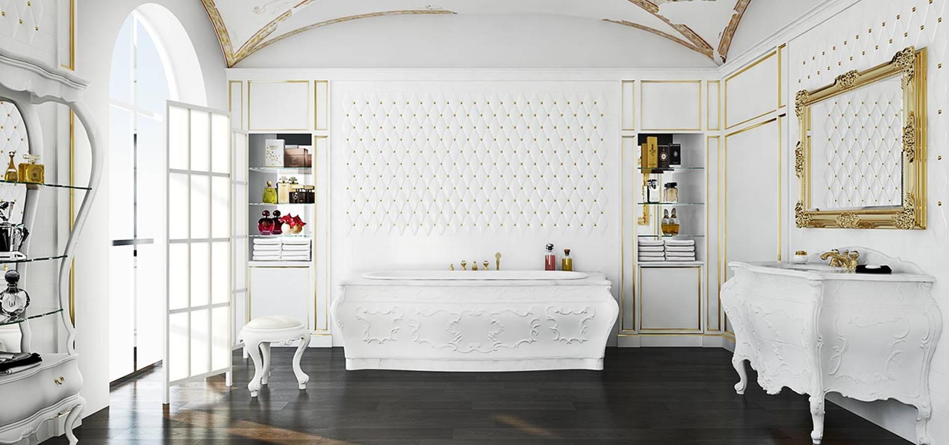 Aranżacja łazienki w stylu lat \'700 di Bianchini & Capponi | homify