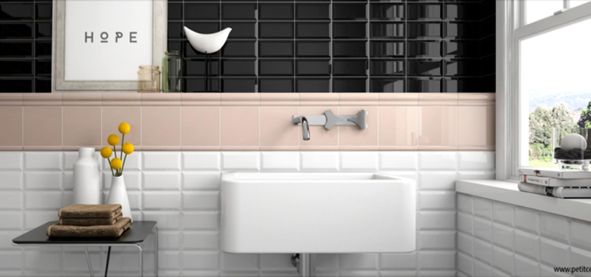 azulejo biselado 7 5x15 por petit ceramic sl homify. Black Bedroom Furniture Sets. Home Design Ideas