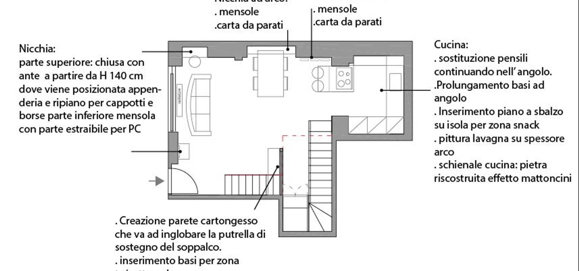 Mensole In Cartongesso Ad Angolo progetti by azzurra lorenzetto-maydaycasa | homify