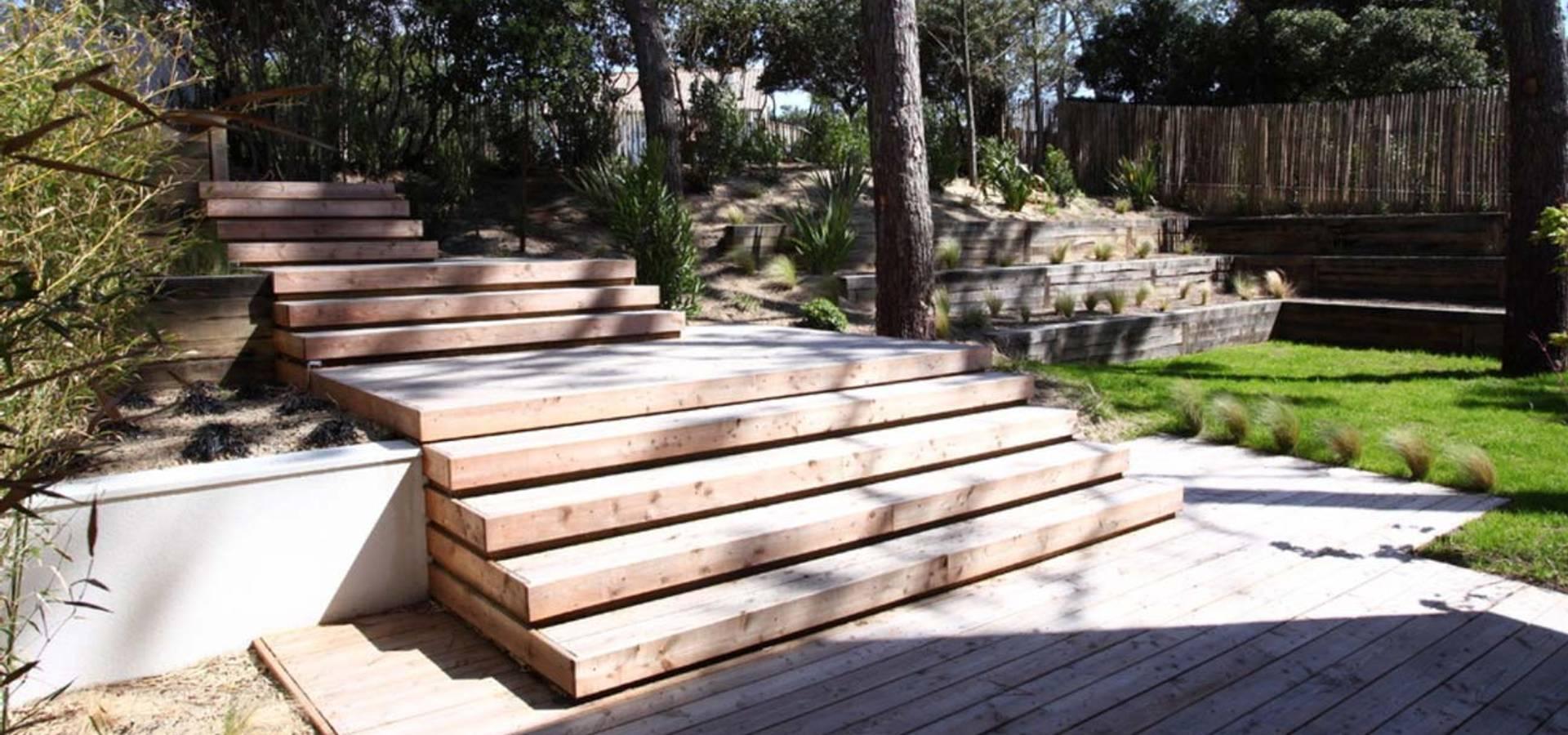 am nagement d 39 un jardin de particulier au cap ferret par nl paysage paysagiste dplg homify. Black Bedroom Furniture Sets. Home Design Ideas