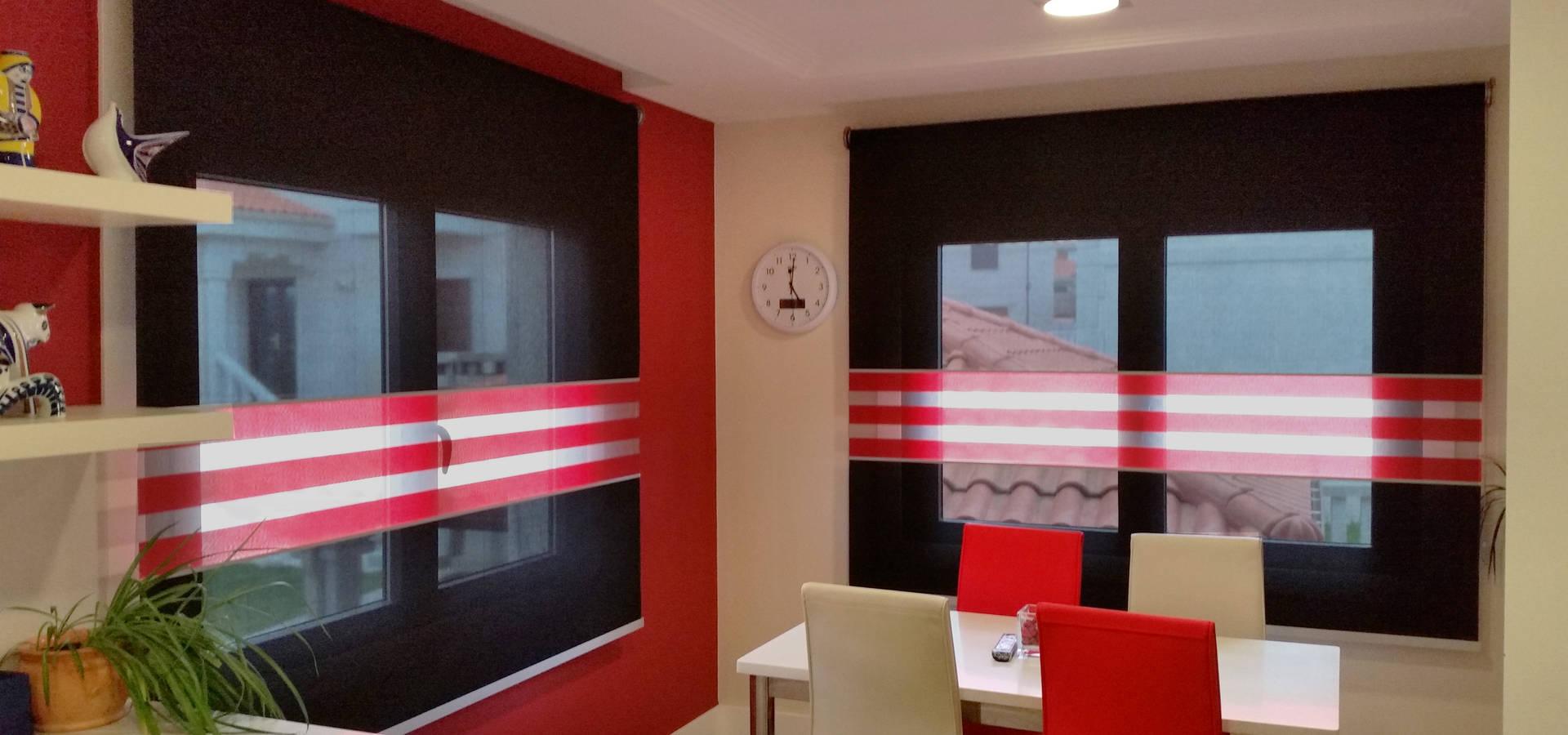 Estores enrollables y alfombra para una moderna cocina por for Estores cocina ikea