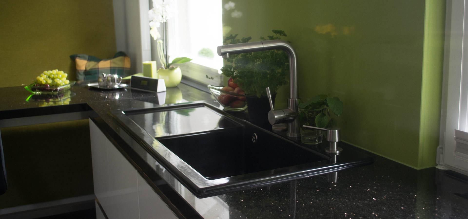 Küchenarbeitsplatte Naturstein Star Galaxy und Rückwandverkleidung ...
