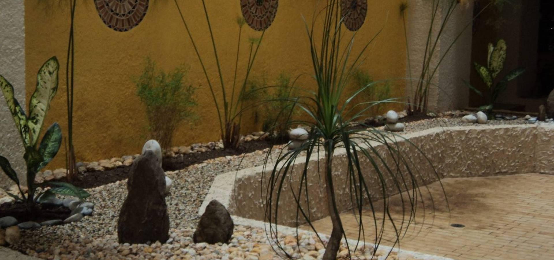 Muestras de trabajo by jardines paisajismo y decoraciones for Decoraciones de jardines