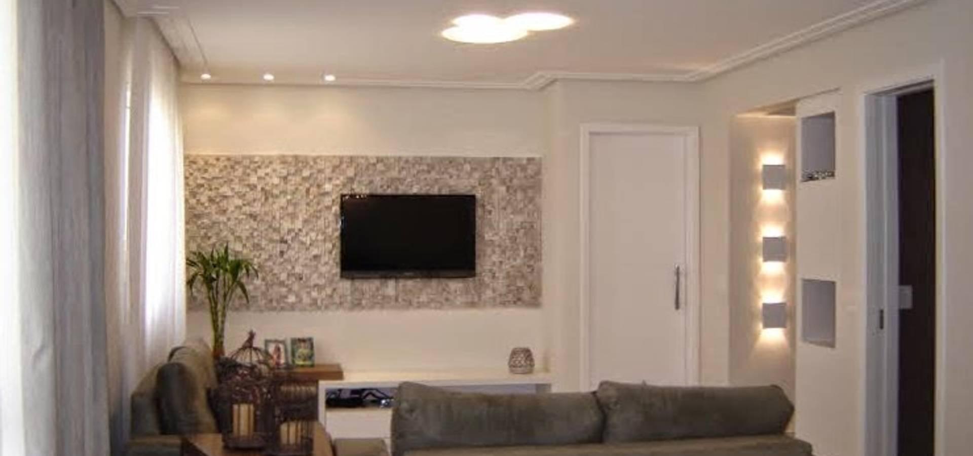 Consult Rio M Dico Sbc Por Andrea Del Monaco Arquitetura E  -> Estante Gesso Sala Tv