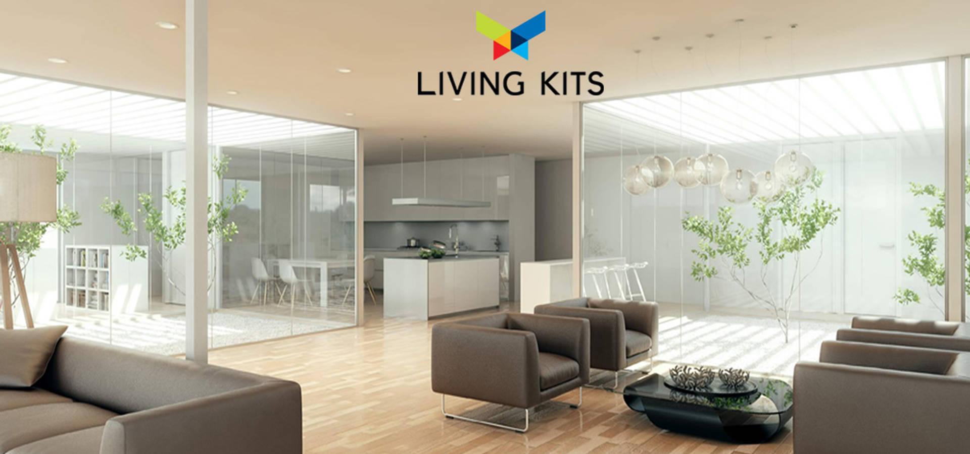 Casa sostenible de casas modernas living kits homify - Recibidores de casas modernas ...