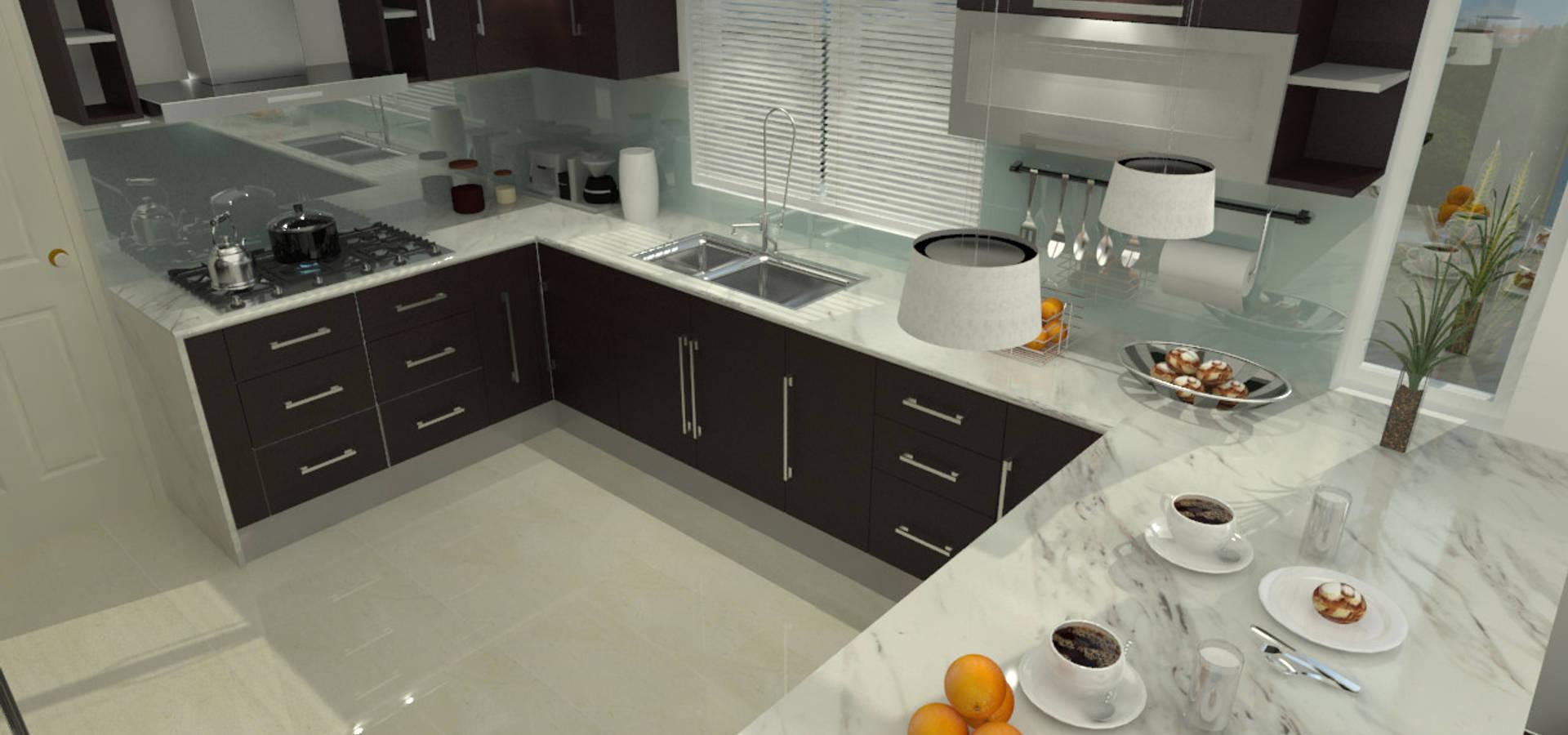 Proyecto Diseño Interior (COCINA) de UNESPACIO360 | homify